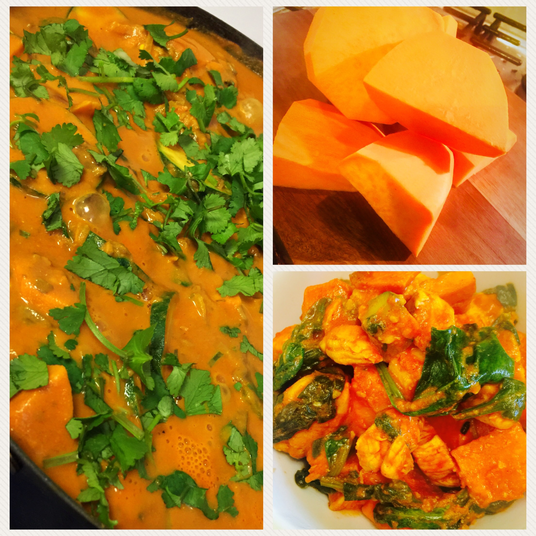 Spinach, Carrot & Sweet Potato Curry